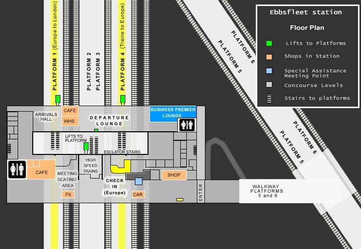 Floor Plan Of Ebbsfleet Train Station Inside Eurostar